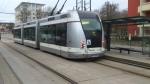 Rame TVR n° 14 à l'arrêt Montet Octroi le 06/02/2014.