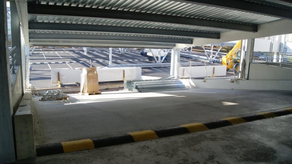 Construction du parking aérien du CH. Emile Durckheim d'Epinal.