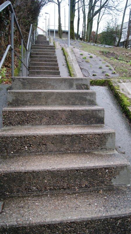 Les escaliers.