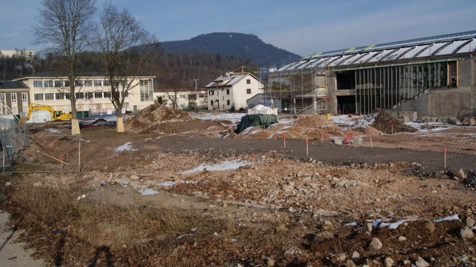 Le chantier de construction de la NEF le 26/01/2013.