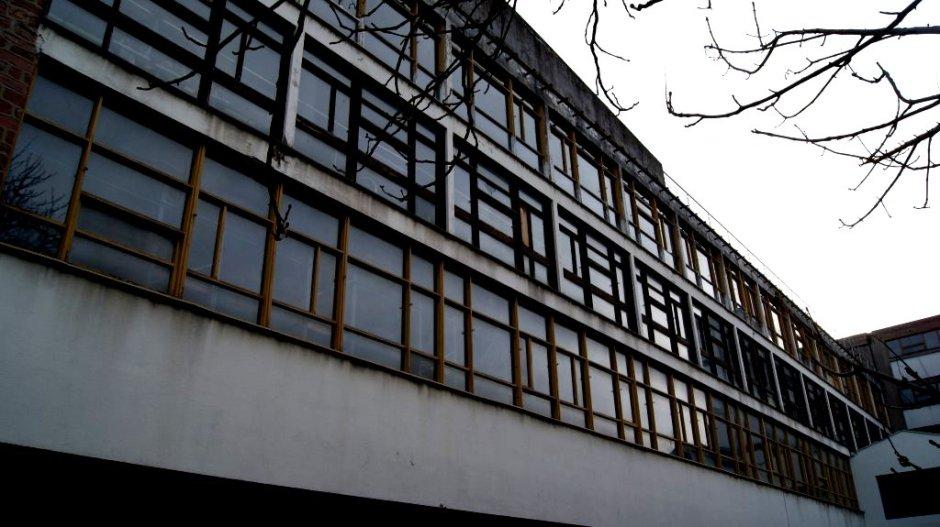 L'Usine de Bonneterie Claude et Duval réalisée par Le Corbusier à Saint-Dié-des-Vosges le 26/01/2013.