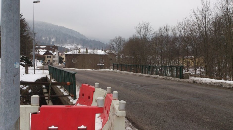 L'entrée du tunnel sous la RN66 à Saint-Maurice-sur-Moselle le 25/01/2013.