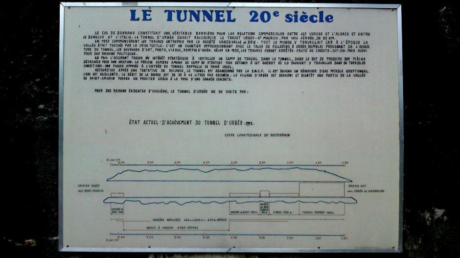Plaque commémorative du tunnel d'Urbès à Saint-Maurice-sur-Moselle.