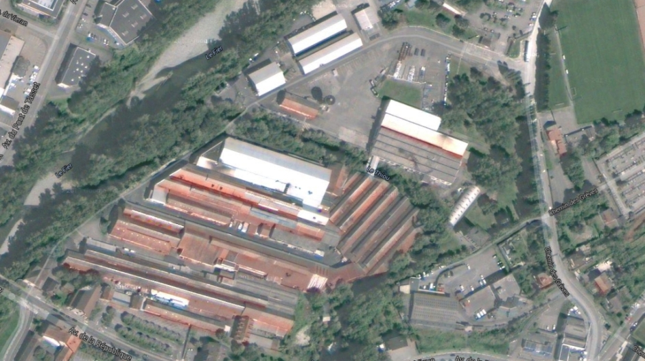 Le site de l'ancienne papeterie de Cran Gévrier.