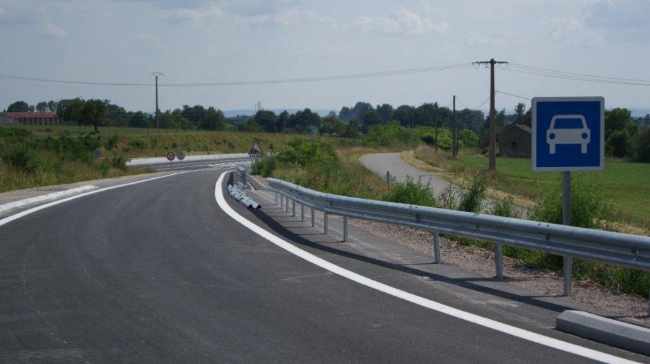 Poursuite des travaux de mise aux normes sur la RD 166.