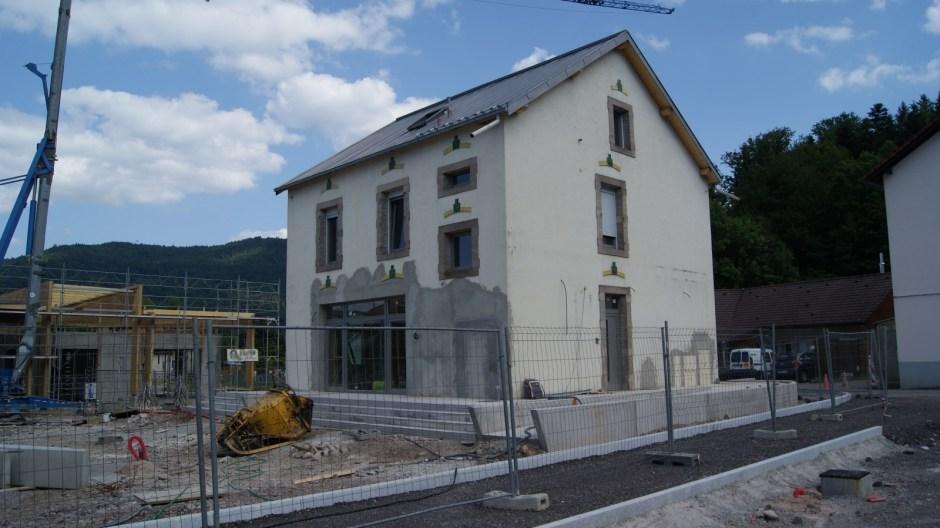 Réhabilitation de la Place de la Gare à Saint-Nabord.