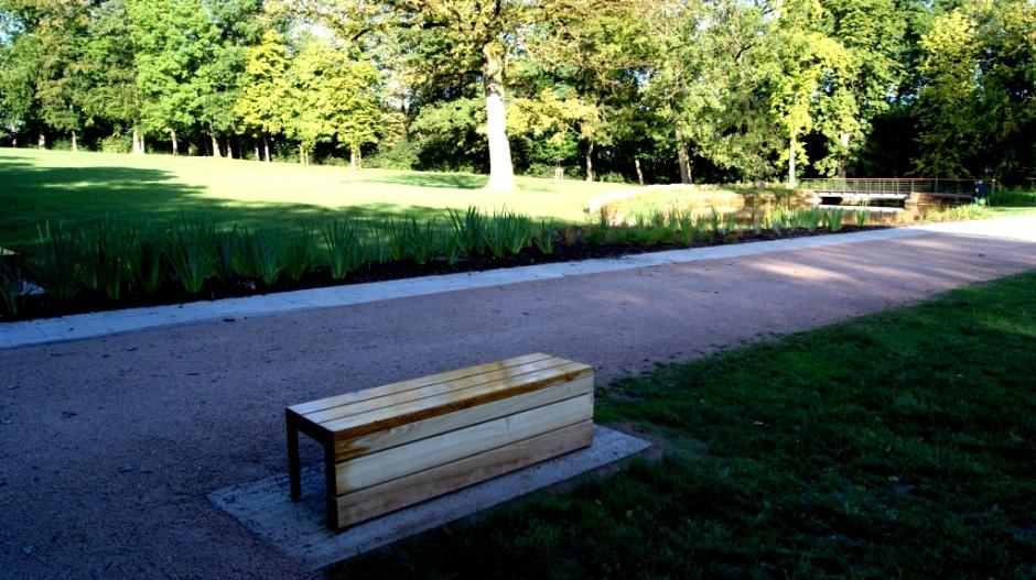 Le parc du château d'Epinal.