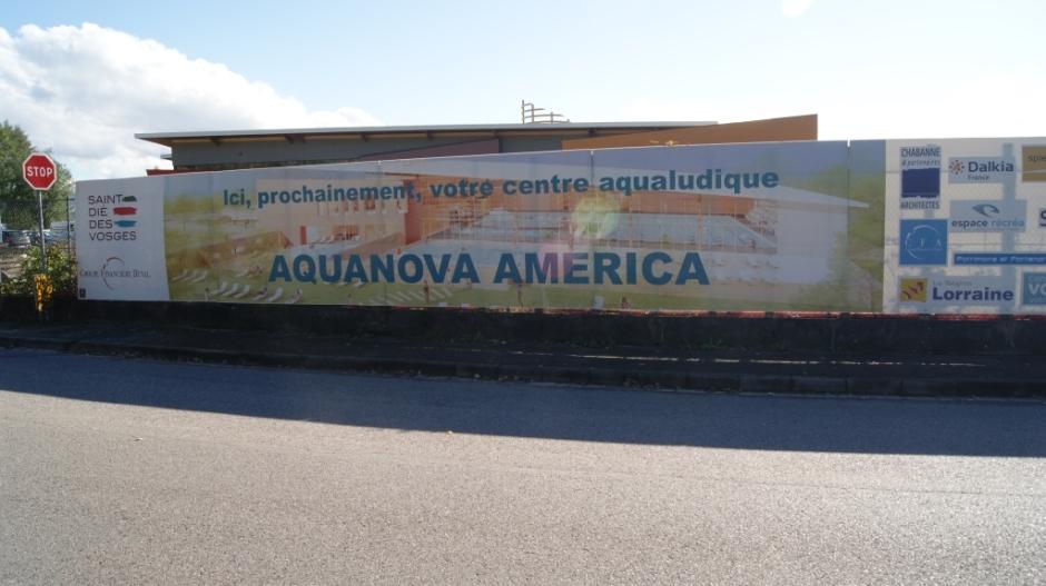 Le futur complexe aqualudique AquaNova America de Saint-Dié-des-Vosges.