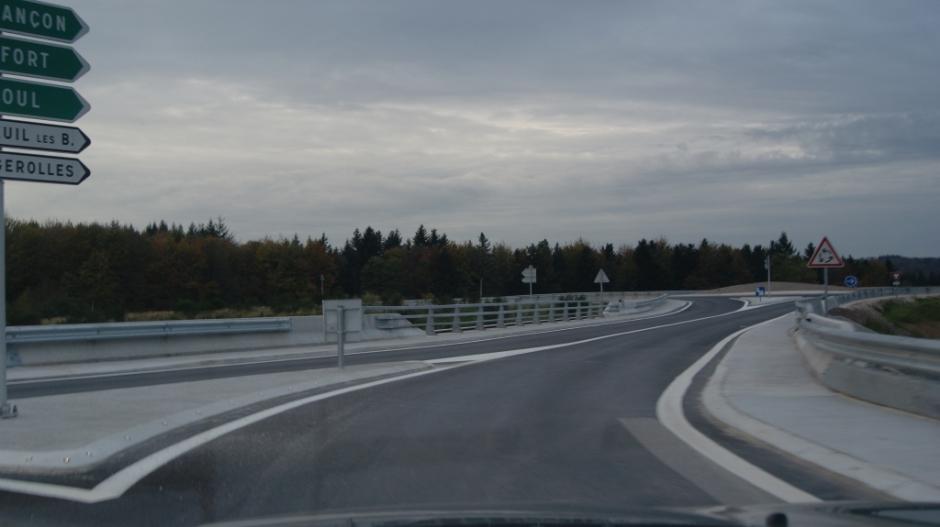Les travaux de mise à 2x2 voies de la RN 57 au Val d'Ajol.