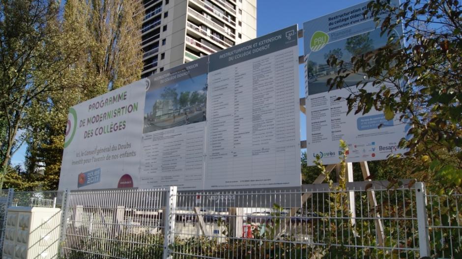 Restructuration et extension du collège Diderot.