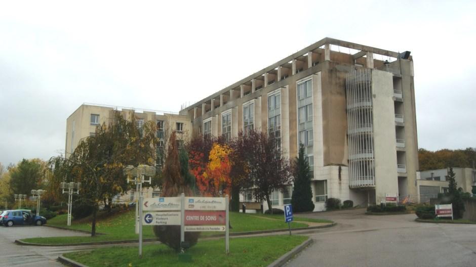 Travaux en cours à la clinique La Ligne Bleue à Epinal.