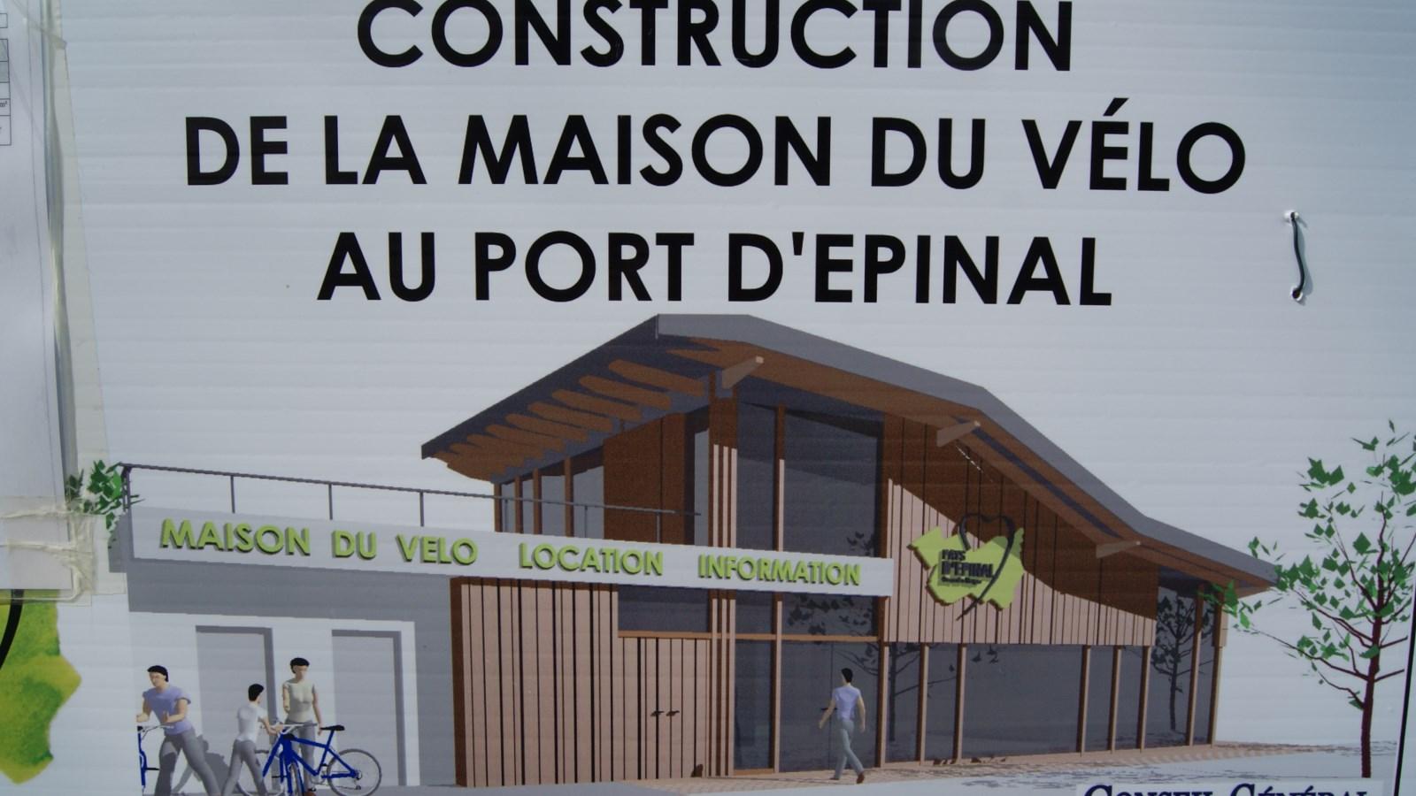 construction de la maison du v lo au port d epinal transvosges