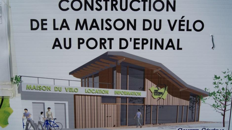 Construction de la Maison du Vélo au Port d'Epinal.