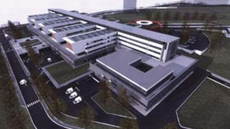 Le futur nouvel hôpital Emile Durkheim d'Epinal.