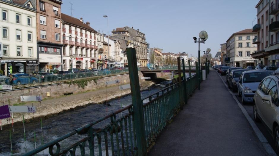 Travaux rue des Petites Boucheries à Epinal.
