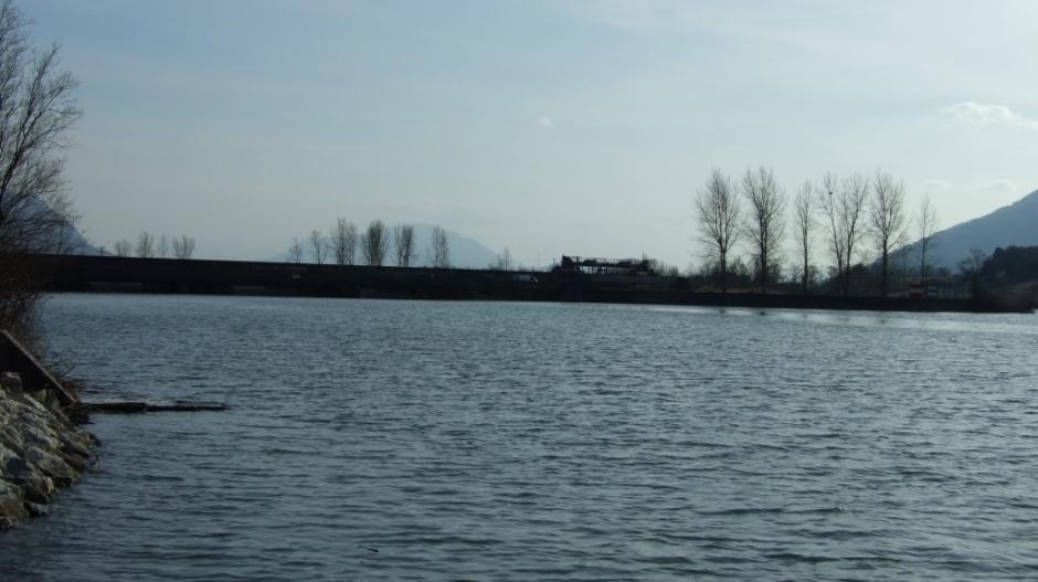 Le barrage de Seyssel sur le Rhône.