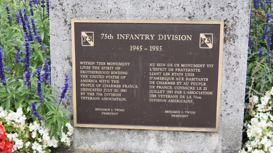 Le monument aux morts Américains de la 2nde GMA de Charmes.