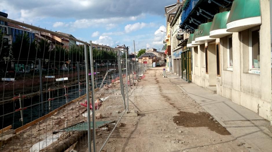Travaux en cours rue des Petites-Boucheries.