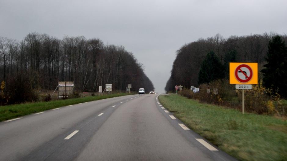 Construction d'un giratoire sur la voie de contournement Nord d'Epinal.