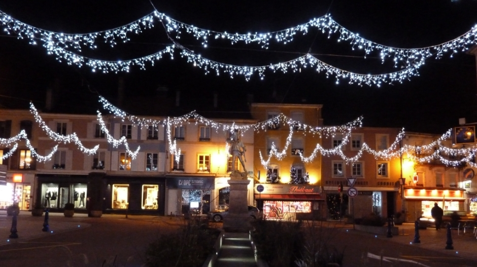 Illuminations de Noël 2014 à Remiremont.