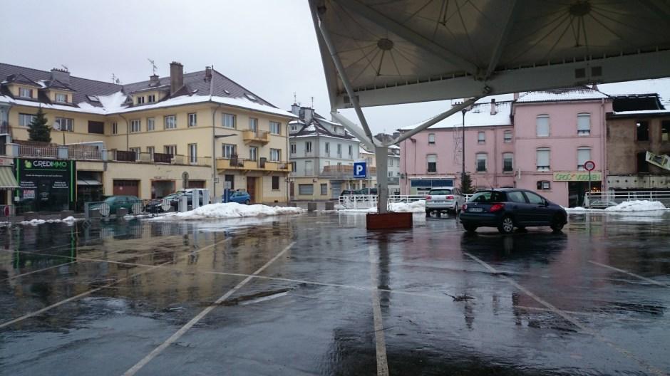 Le parking en ouvrage de la Place du Marché à Saint-Dié.