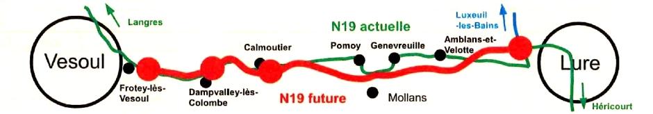 Projet de doublement de la RN19.