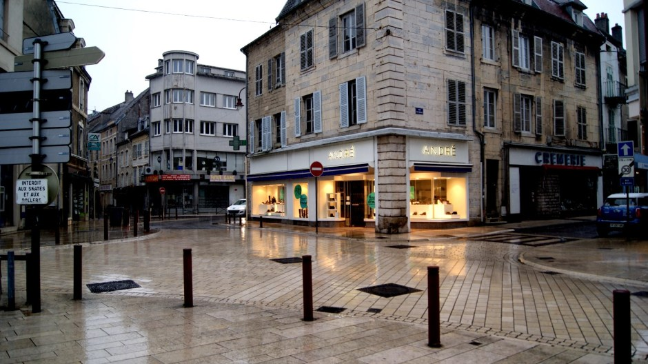 L'hyper centre de Vesoul.