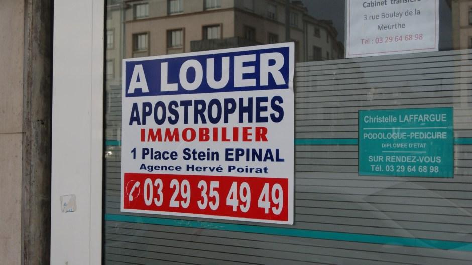 Immobilier en crise à Epinal.