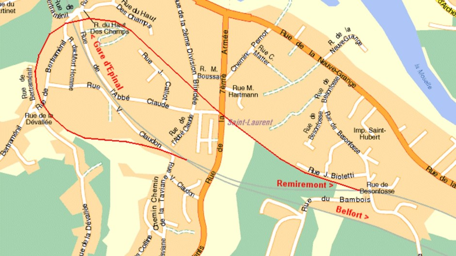 L'ancien raccordement ferroviaire stratégique de Saint-Laurent.