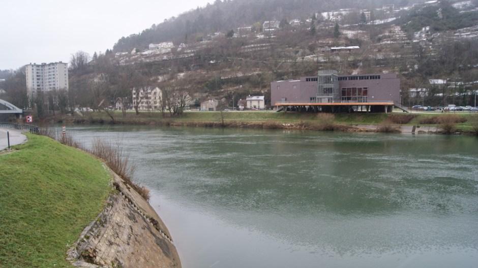 Le tunnel fluvial de la Citadelle de Besançon.