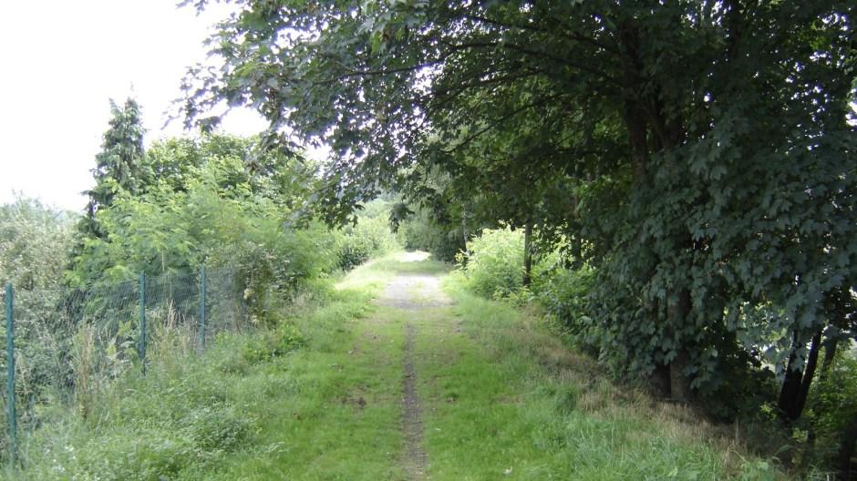 La ligne continue tout droit (photo prise au dessus du pont en photo ci-dessus).