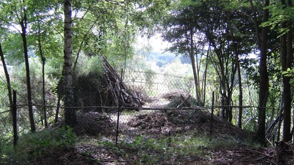 ..., laquelle aujourd'hui fait office de propriété privée sur quelques mètres (photo prise dans la direction de Belfort)...