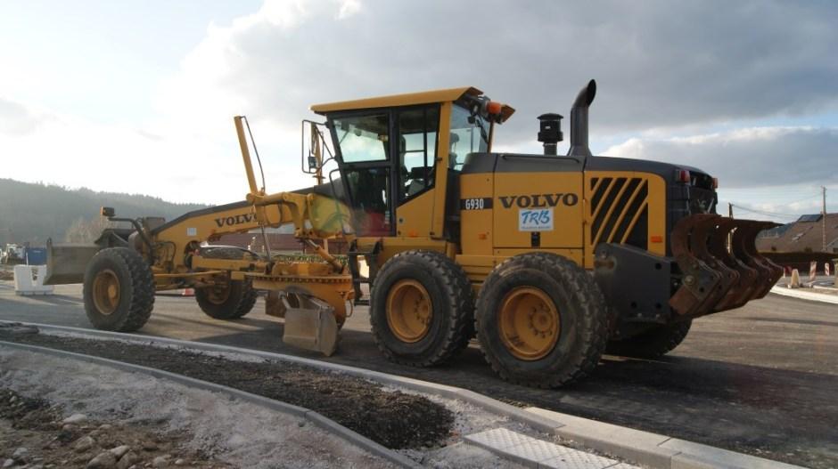 Construction d'un giratoire sur la RD 415 à Anould.
