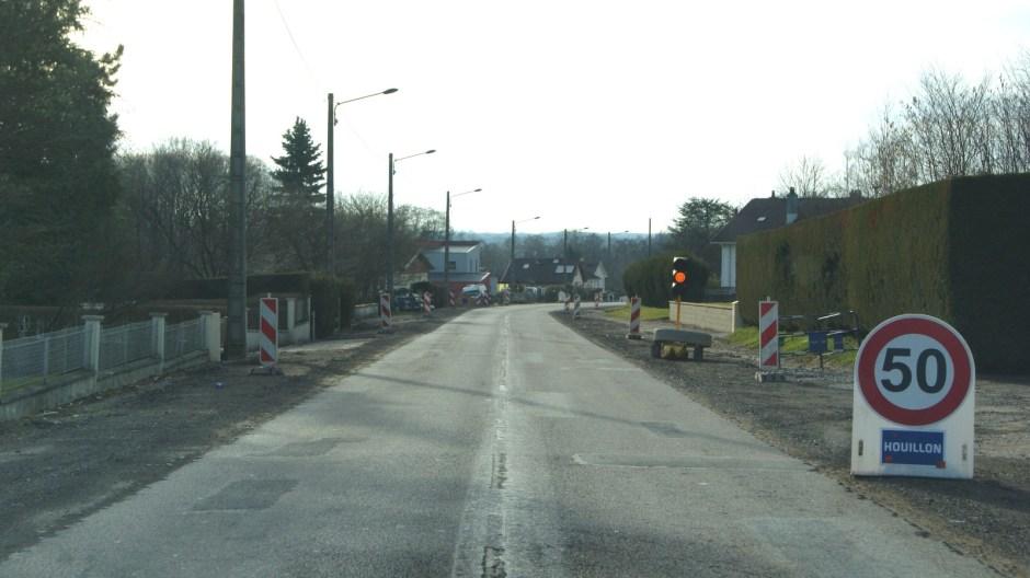 Aménagement de la rue d'Epinal à Uxegney.