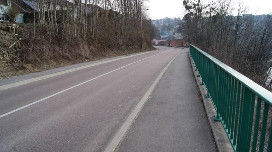 Eboulement de la route de Dogneville à Epinal.