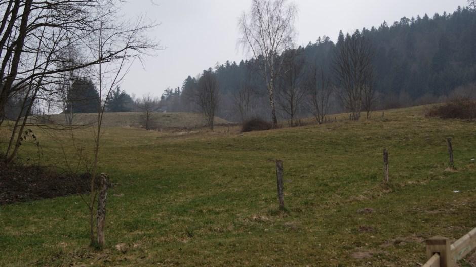 L'emplacement du futur lotissement résidentiel au Rhumont.