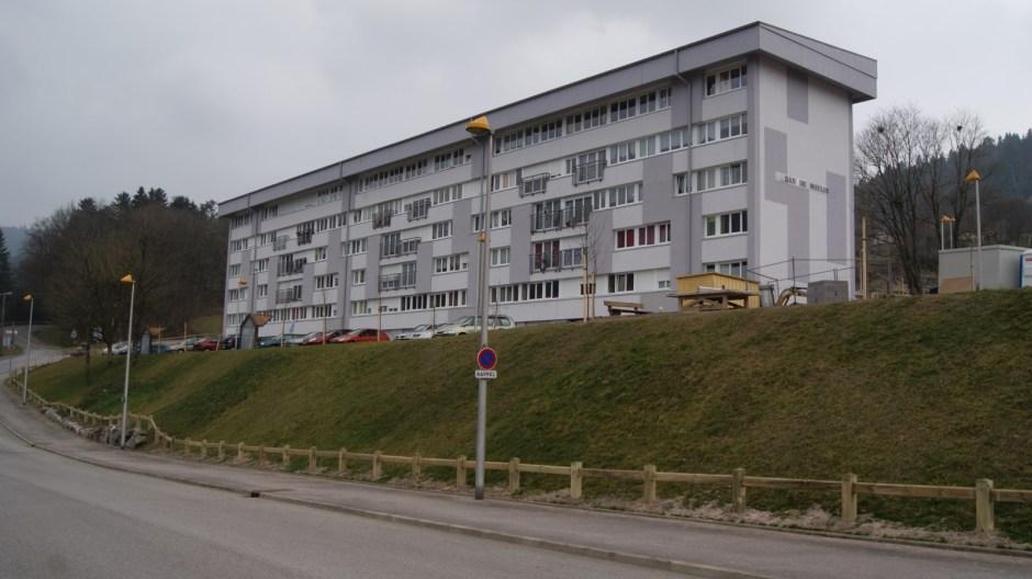 Résidentialisation de deux bâtiments dans le quartier du Rhumont à Remiremont.