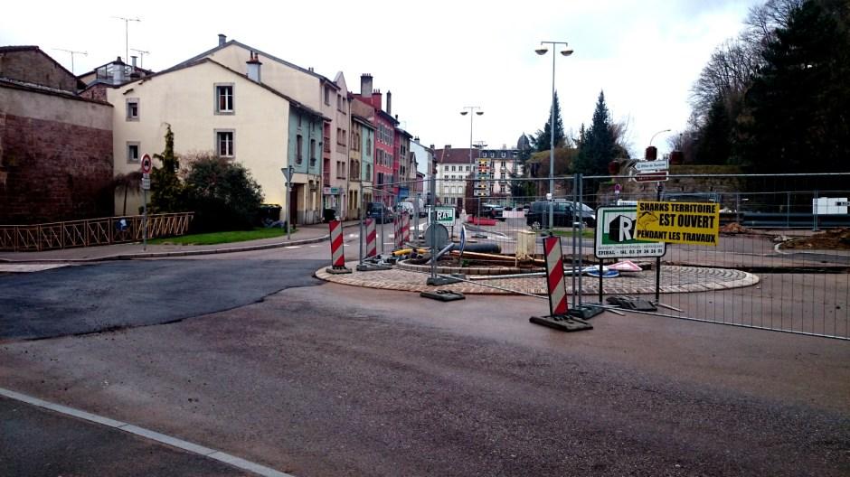 Travaux urbains sur le réseau de chaleur - Rue Saint-Michel.