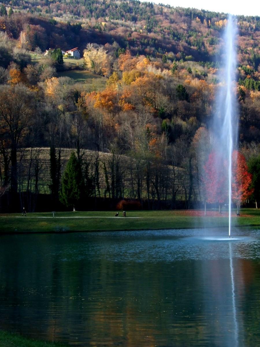Le lac de la Mirande - Allevard.