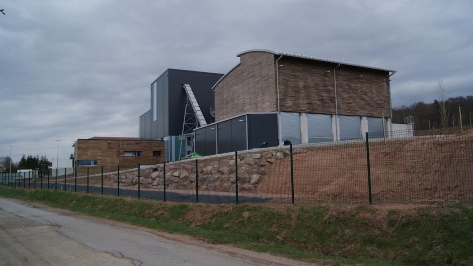 Construction de la chaufferie biomasse sur le site de Razimont à Epinal.
