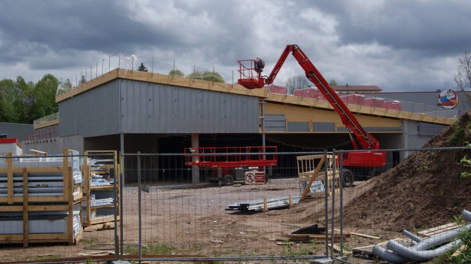 Construction d'un supermarché LIDL à Remiremont.