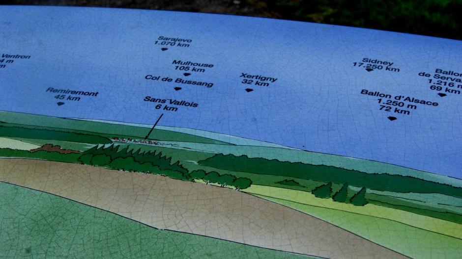 Le Col du Poirier et sa table d'orientation.