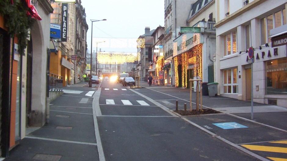 Travaux de requalification de la rue des Etats-Unis à Epinal.