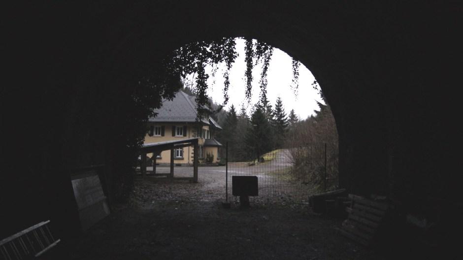 La sortie actuelle du tunnel côté Alsacien. A comparer avec la photo ci-dessous.