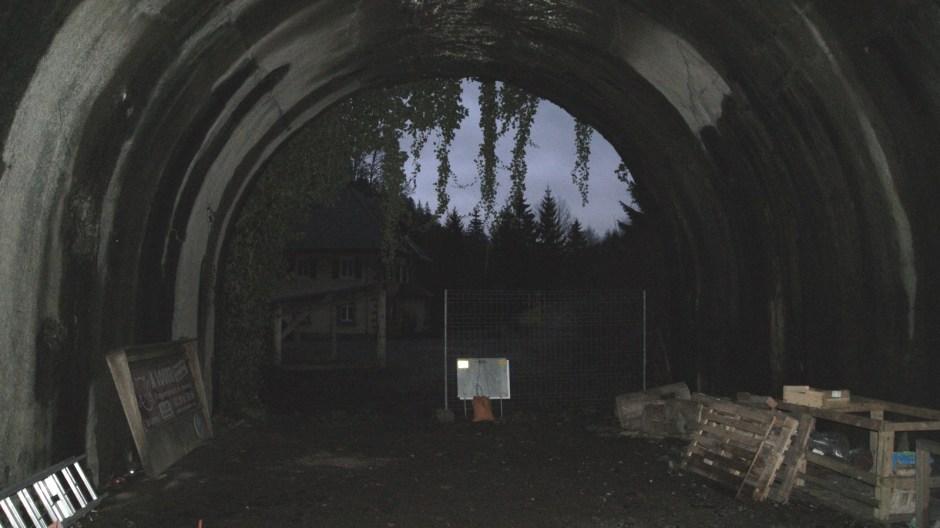L'intérieur actuel du tunnel en direction de l'Alsace.