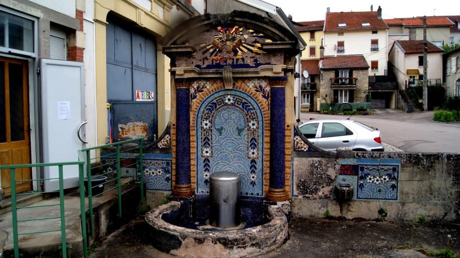 La source d'eau Vittel.