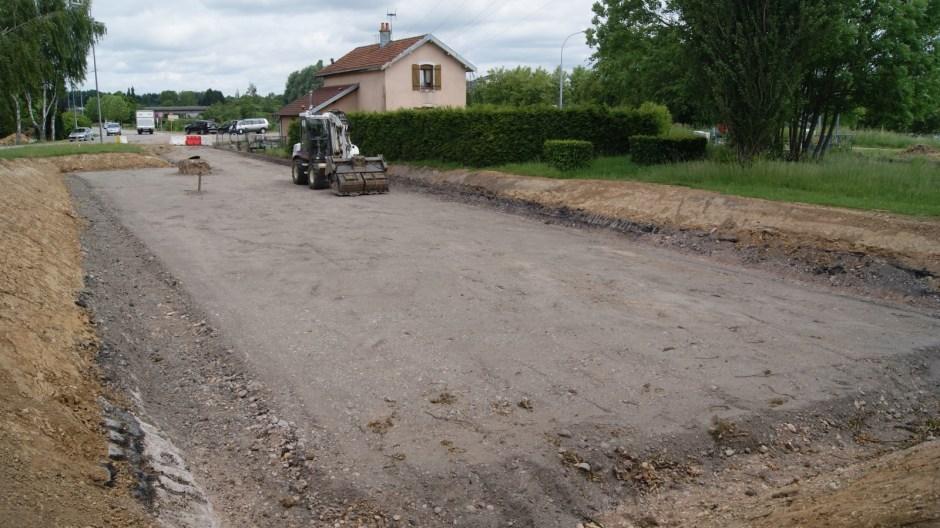 Création d'une aire de covoiturage à Chavelot.