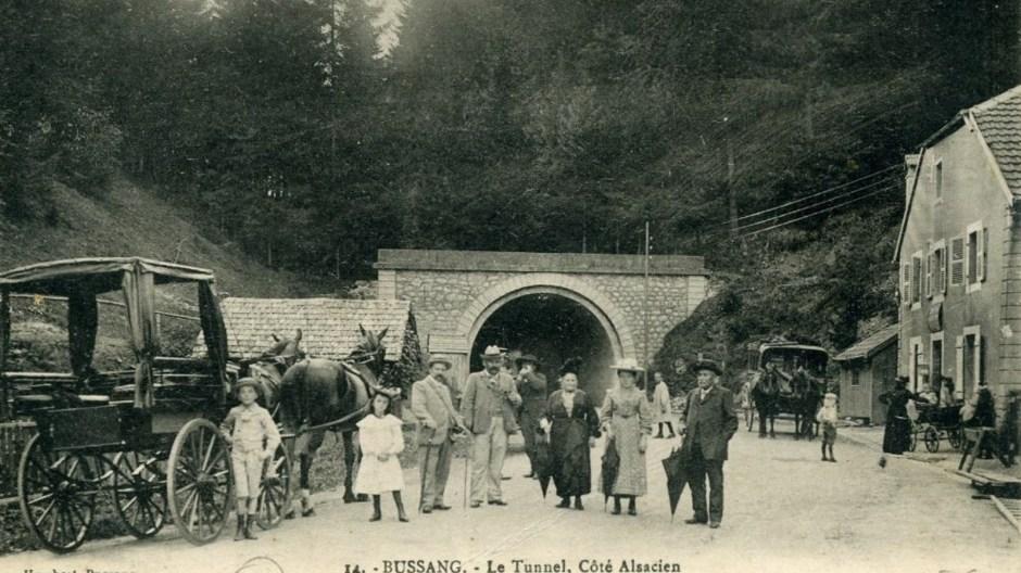 La sortie du tunnel côté Alsacien après la première guerre mondiale.