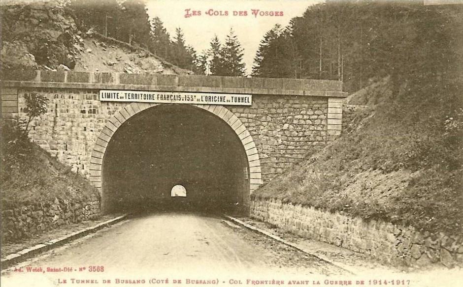 L'entrée du tunnel depuis le côté Vosgien avant la première guerre mondiale.