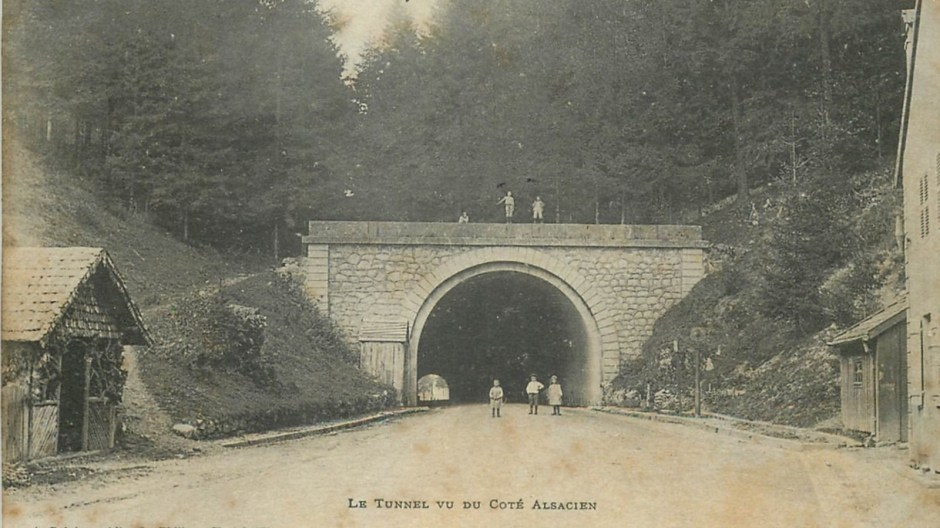 La sortie du tunnel côté Alsacien avant la première guerre mondiale.